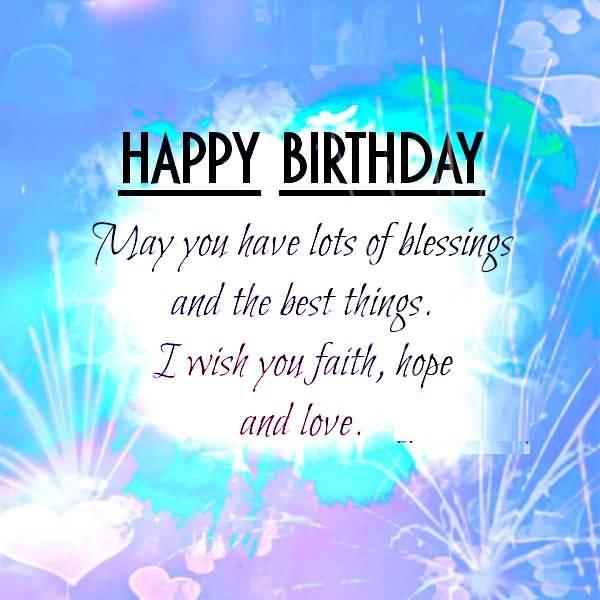 Happy birthday lots of wishing & blessings Godchild