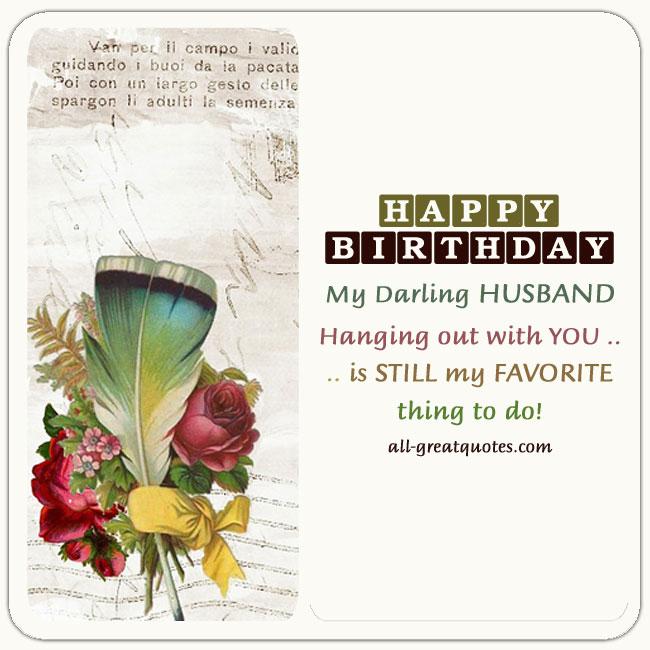 Happy birthday my darling Husband greeting wish