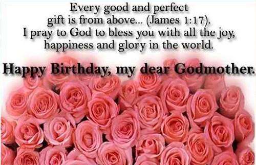 Happy birthday my dear Godmother flower wishes