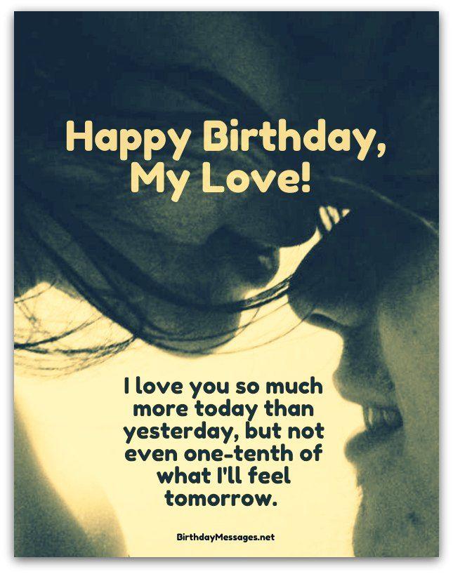 Happy birthday my love Boyfriend amazing message wish from dear girlfriend