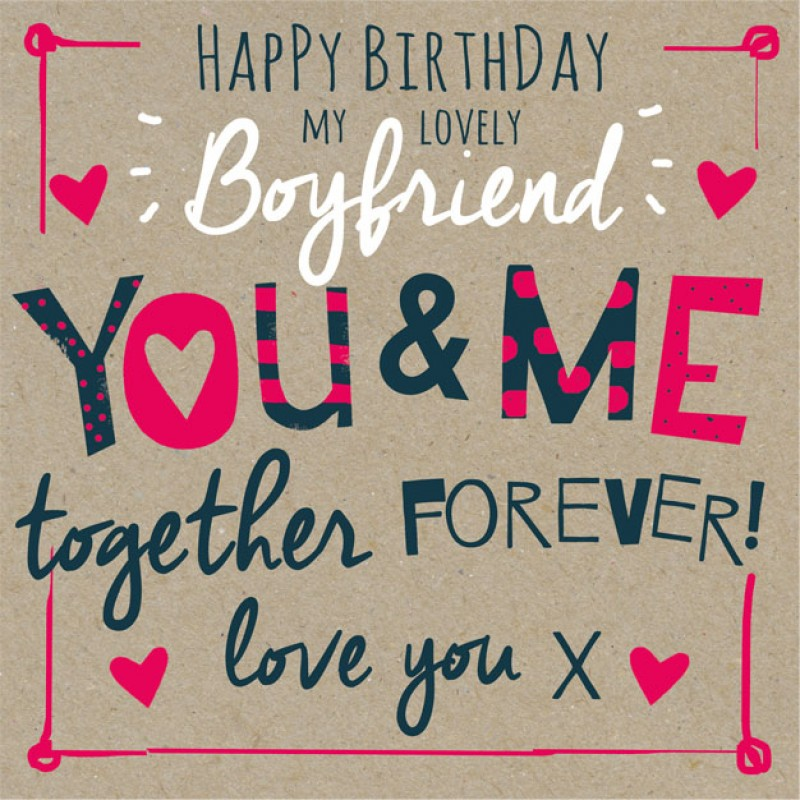 Happy Birthday My Lovely Boyfriend Ever Wishes Greeting Cards