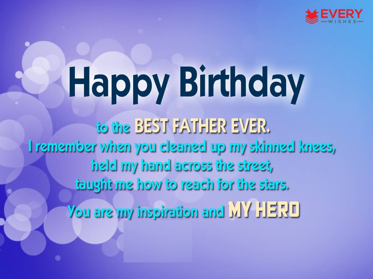 Happy birthday to the best Father ever inspirational message