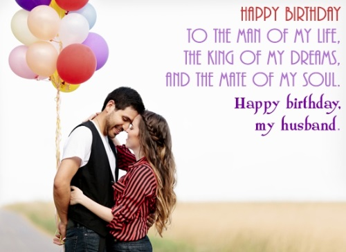 Happy birthday to the man of my life Husband wishes blessings