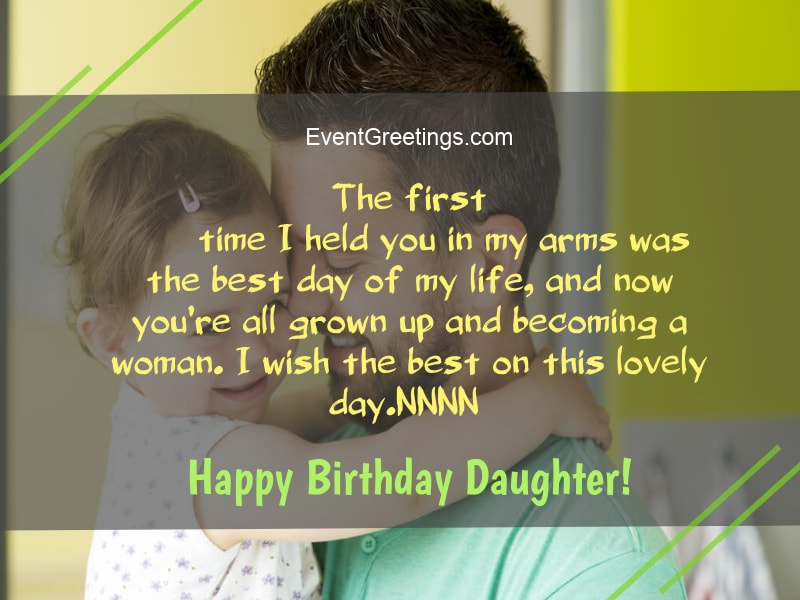 Happy birthday wishes & blessing for gift of god Daughter from dad