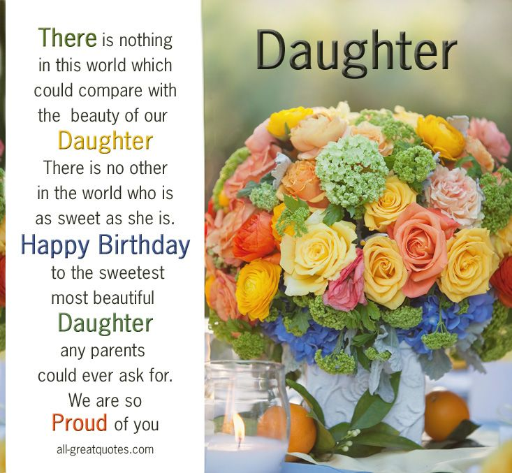Happy birthday wishes for Daughter from parents