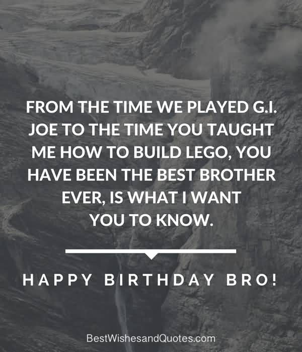 Happy birthday wishes for best Brother from sister