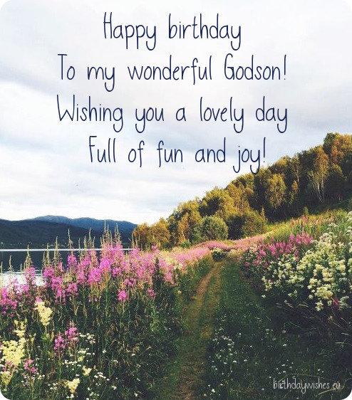 Happy birthday wishes for wonderful Godson