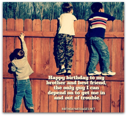 Happy birthday wishes & greeting for little Brother and friend from others