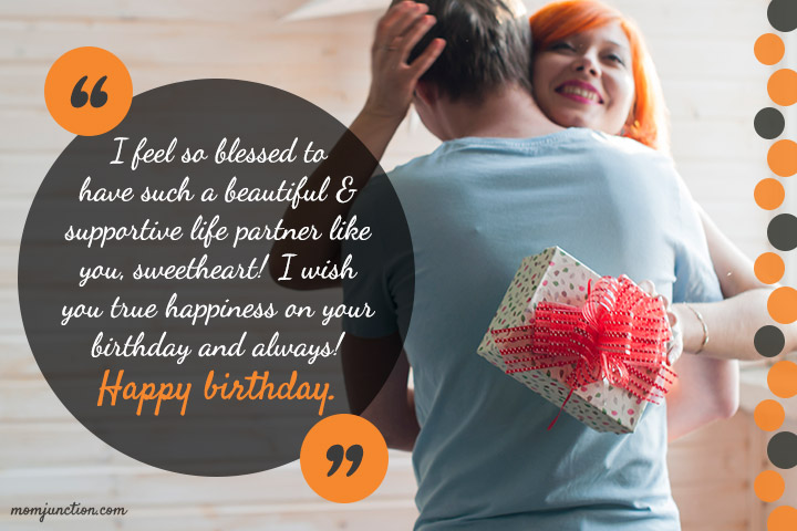 I feel so blessed to have such a beautiful wife birthday wishes with lovely gifts from husband