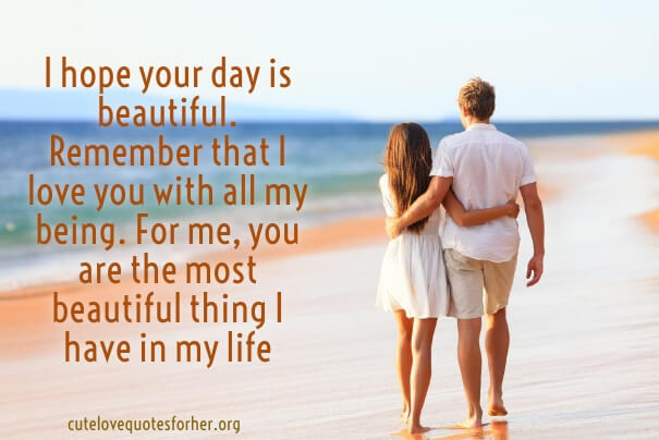 I hope your day is beautiful remember that wife birthday quote for her from hubby
