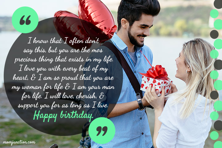 I know that I often don't day this , but you are the Wife birthday gifts wishes to her from hubby