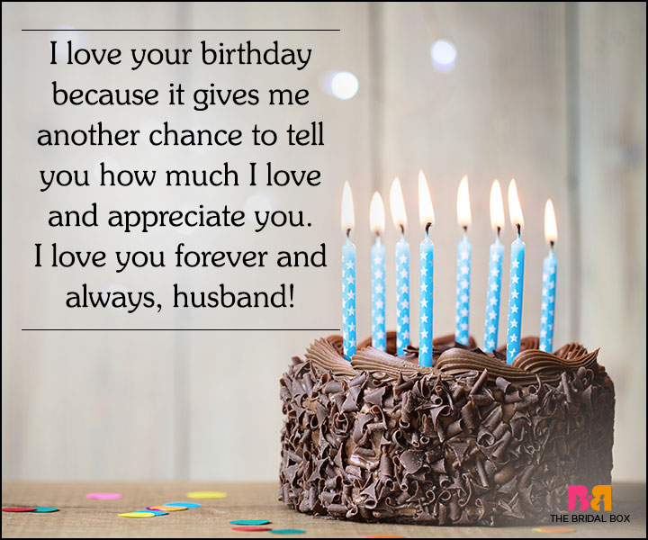 I love your birthday because it gives me Husband happy birthday candle cake with perfect wishes