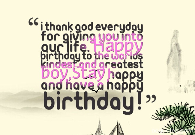 I think God everyday for giving you into our life for sweet Boyfriend birthday wishes messages