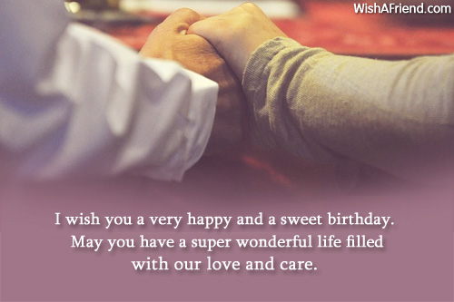 I wish you a very happy and a sweet birthday blessing to a sweet Husband
