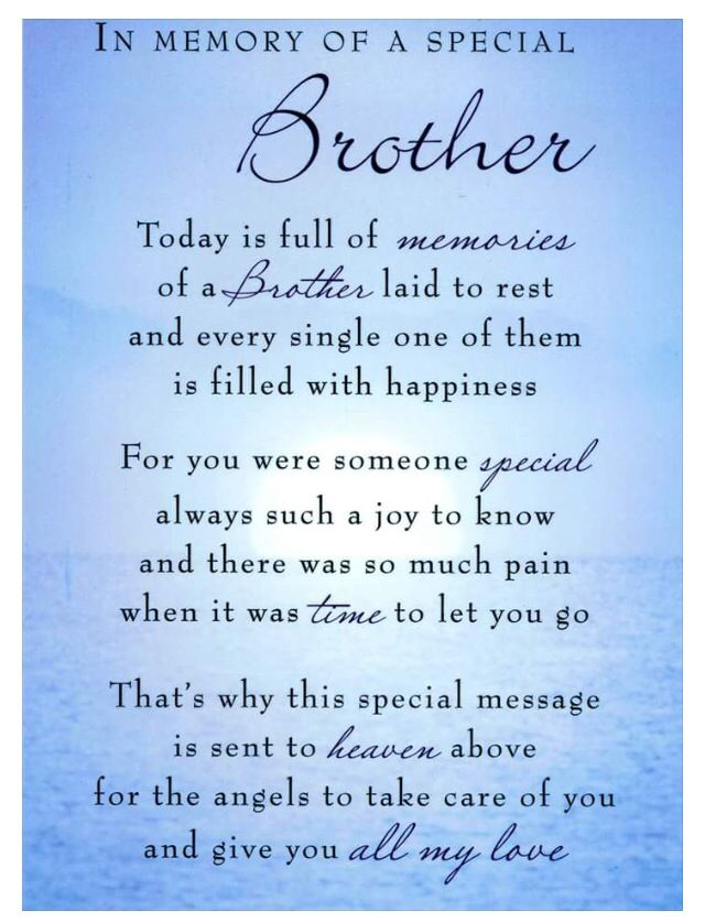 In memory of a special Brother birthday wish & messages
