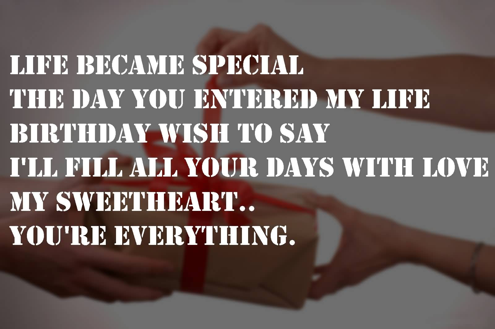 Life become special the day you for my lovely Boyfriend wishes amazing blessings