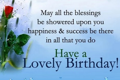 Lovely birthday wish greeting with rose for lovely Brother