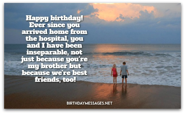 Lovely happy birthday greeting wish for best Brother from sister