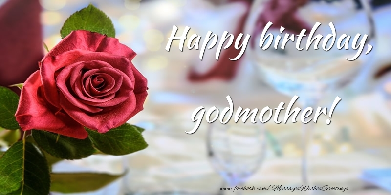Lovely rose happy birthday wish to Godmother