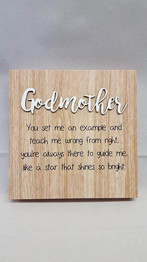 Lovely wish for Godmother from son