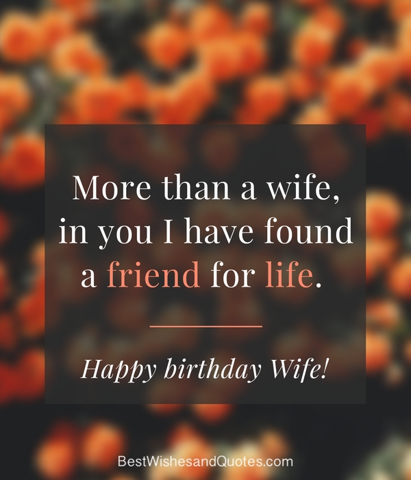 More than a wife in you I have found Wife birthday quote wish for her from hubby