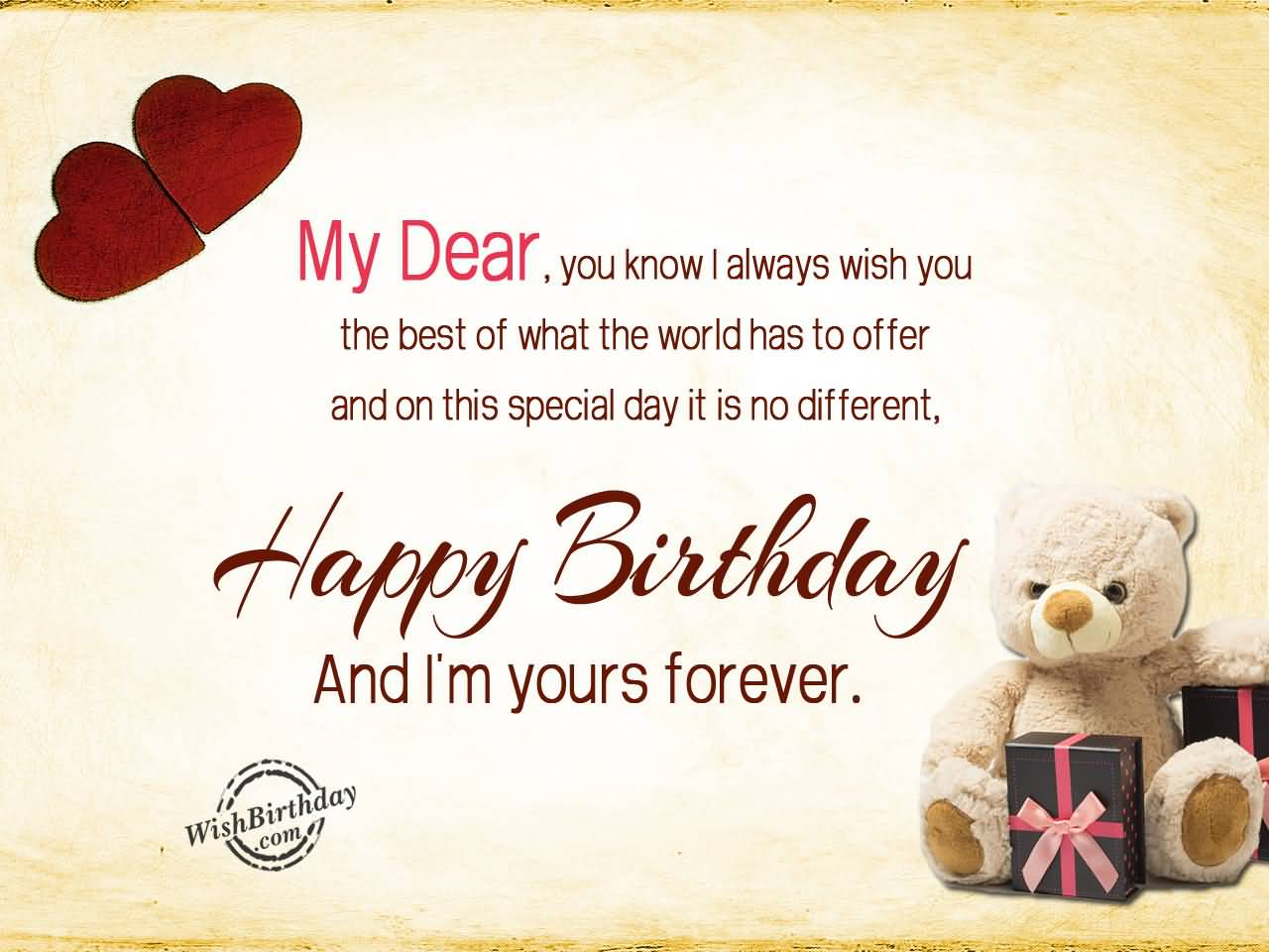 My Dear You Know I Always Wish The Best Husband Birthday Greeting Cards