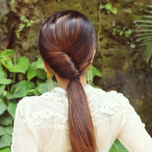 New ponytail for girlish style Long Hairstyle