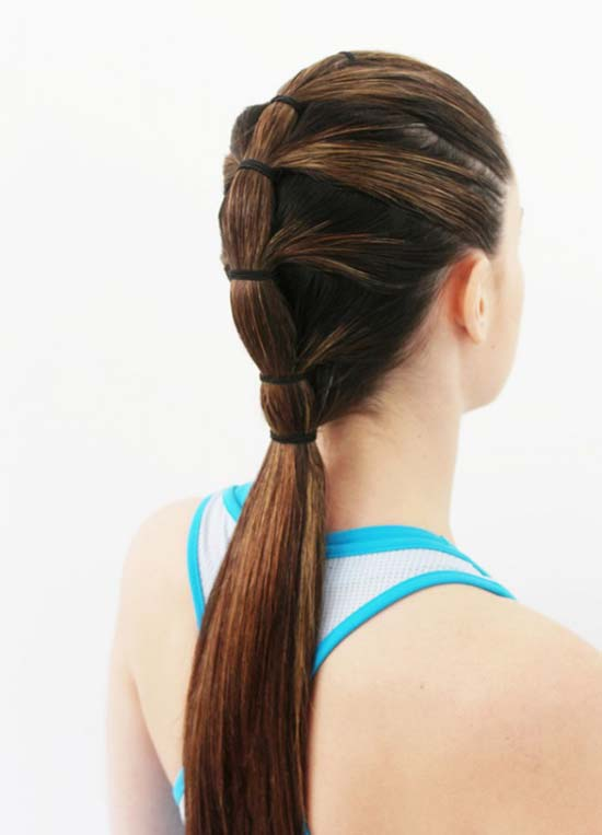 New sport style for girls Ponytail hairstyle