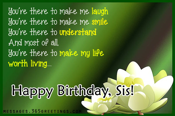 New wishing greeting for cute Sister happy birthday