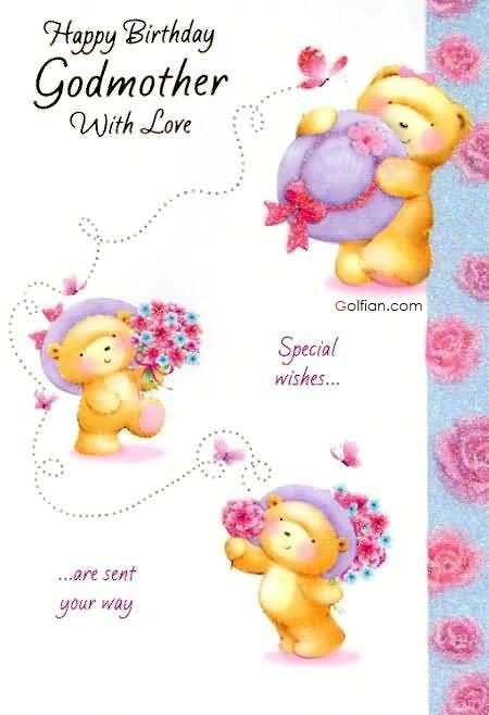 Nice greeting card for special Godmother with love image