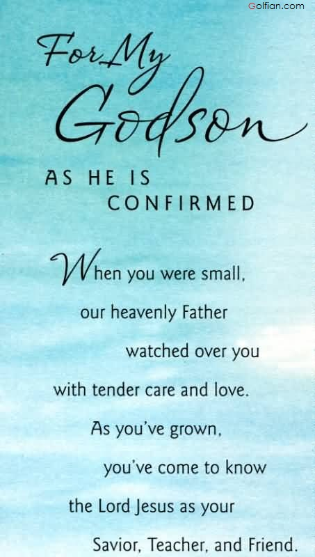 Nice wishes and greetings for Godson from dad