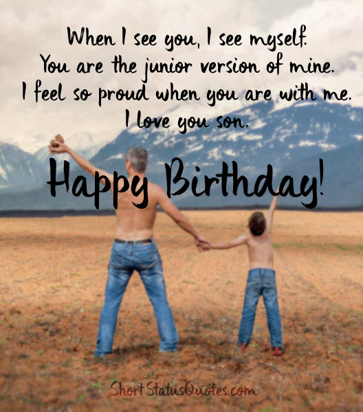 Perfect birthday blessing wish for dear Son i love you from dad