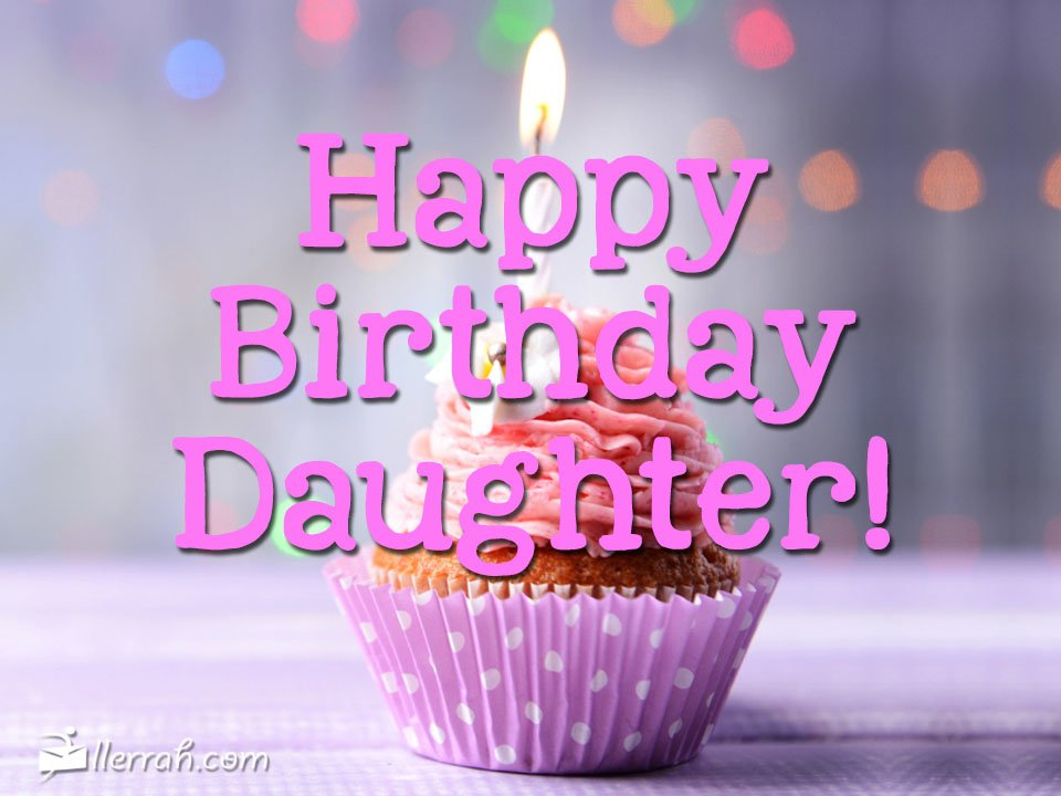 Pretty happy birthday greeting for Daughter from parents