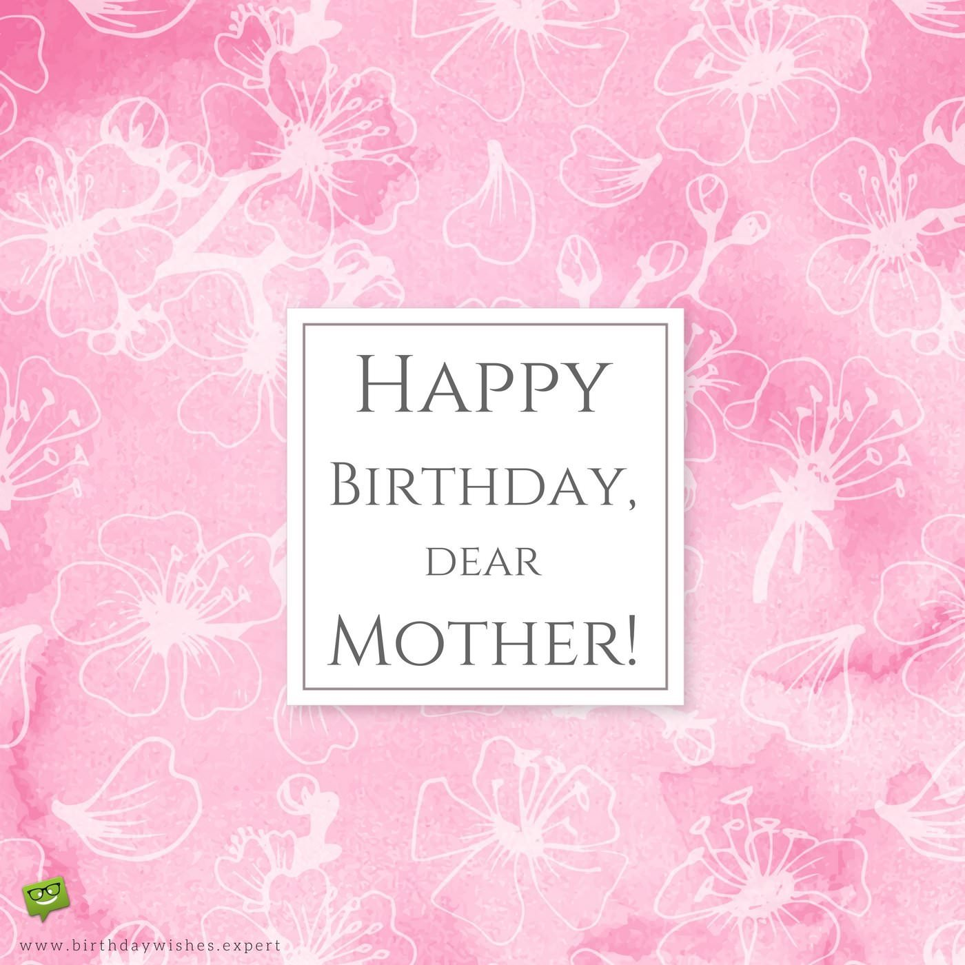 Pretty pink wallpaper birthday greeting wish for lovely Mother