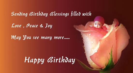 Sending birthday blessings filled with love, peace & joy happy birthday wishes to dear Sister