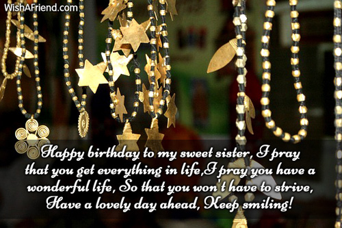Short message for little cute Sister fro brother