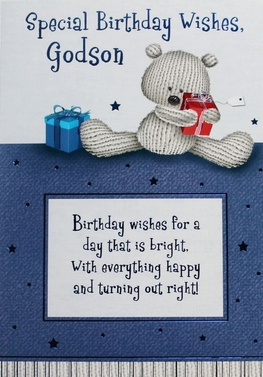 Special birthday wishes for Godson from dad