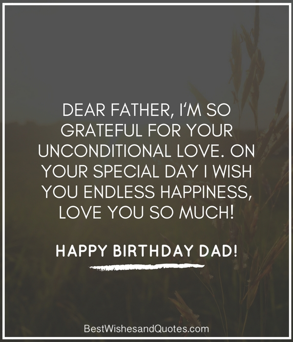 Special happy birthday to dear Father wishes & messages from son