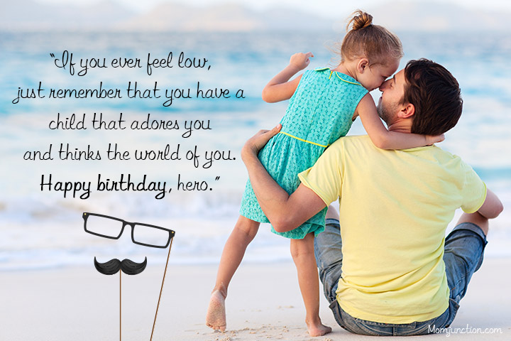 Sweet wishes & message happy birthday for sweet Father from son
