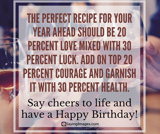 The perfect recipe for your year ahead dear Father happy birthday wishes from son