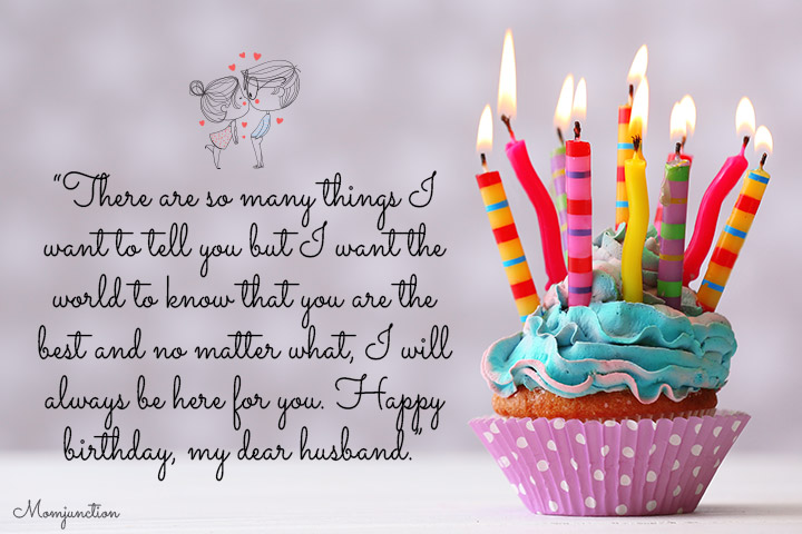 There are so many things I want to tell you Husband birthday candle cup cake with blessings