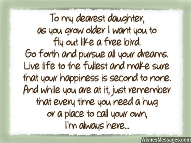 To My Dearest Daughter Daughter Quotes
