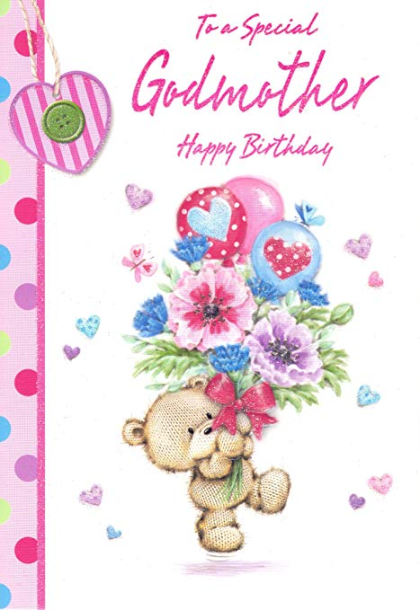 To a special Godmother happy birthday greeting cards