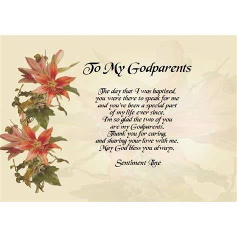 To my Godparents messages about wishing and blessing image