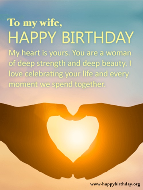 To my Wife happy birthday beautiful sunshine greetings for you