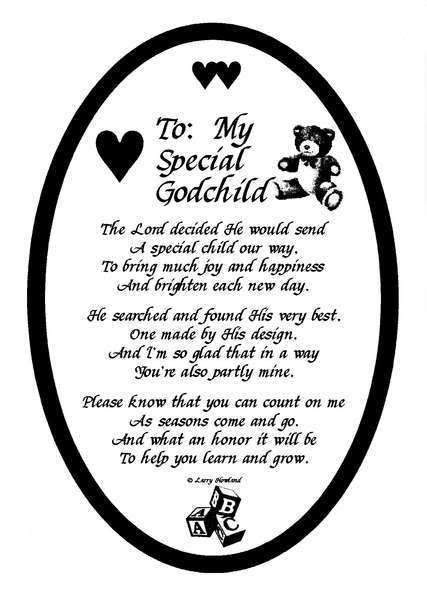 To my special Godchild with love message for you dear