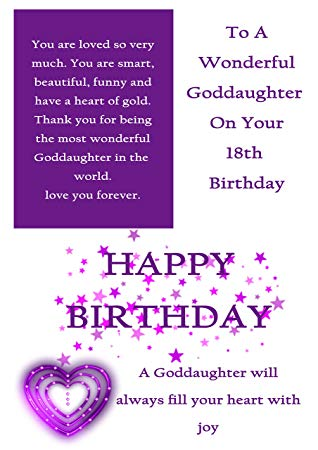 To wonderful Goddaughter on 18th Birthday wishes from parents