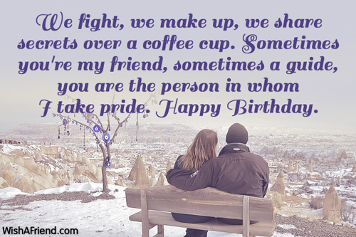 We fight, we make up, we share secrets Husband birthday great messages