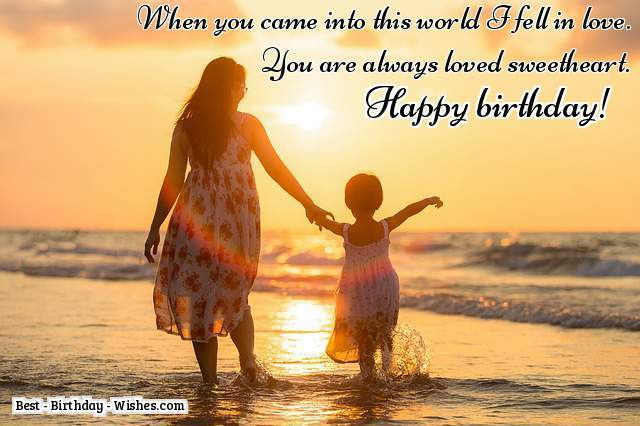 When you come into this world dear Daughter birthday wishes & message
