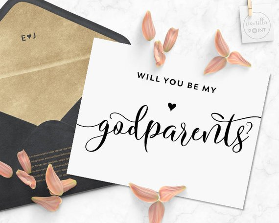 Will you be my Godparents card image